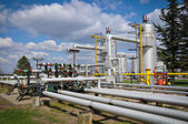 Skladování plynu a potrubí — Stock fotografie
