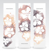 Romantic template design with flowers. Vertical banner — Stock Vector