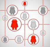 社交网络。社会媒体的矢量插画. — 图库矢量图片