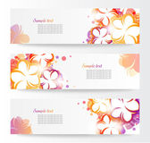 Flower banners — Stock Vector