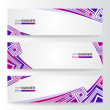 Stock Vector: Set of abstract banners.