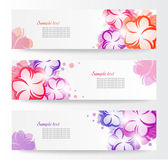 Horizontal floral banner. Design element — Stock Vector