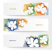 Horizontální květinovými nápis. designový prvek — Stock vektor