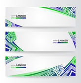 Set of vector banners — Vector de stock
