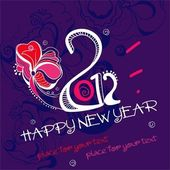 New year 2012. — Stock Vector