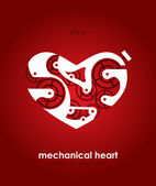 Mechanical heart. Vector illustration. — Stock Vector