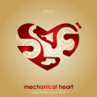 Royalty-Free Stock Vector Image: Mechanical Valentine heart. Valentine\'s Day Card.