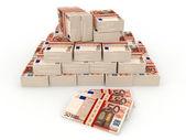 Liasses d'argent. 50 euro — Photo