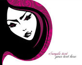 Beauty girl. Vector illustration. Place for your text — Stock Vector