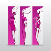 Fashion girls. — Stock Vector