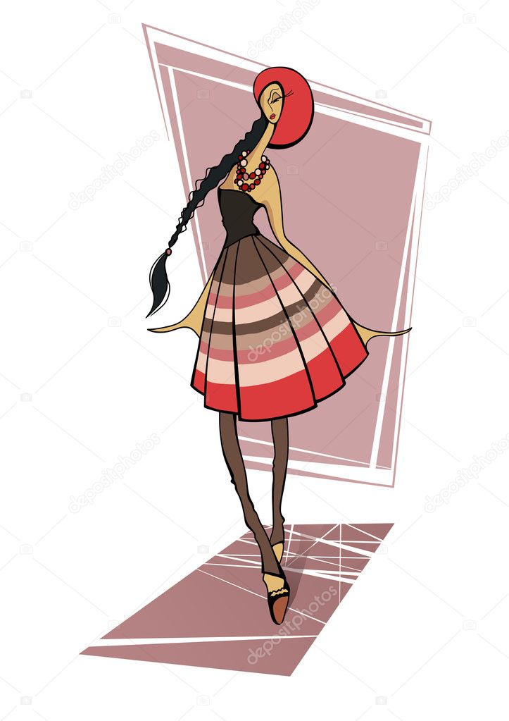 Fashion girls — Stock Vector #9652506