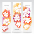 Set of the floral spring banners. — Imagen vectorial