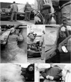 Collage d'accident de voiture. — Photo