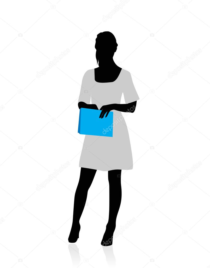 Business woman silhouette — Stock Vector © teolin #9173696