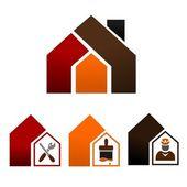 Pictogrammen - huis verfraaien — Stockvector
