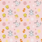 Seamless Easter Background — Stok Vektör