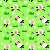 Seamless Sheep Background — Stock Vector