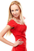 Red dress — Stock Photo