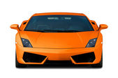 Orange supercar. Front view. — Stok fotoğraf