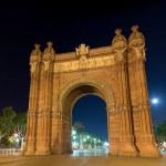 Arc de Triomf at night in Barcelona, Spain — Stock Photo #9597248