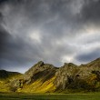 Mountains with dramatic sky — Stock Photo