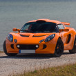 Stock Photo: TALLINN, ESTONI- JUNE 16, 2008: orange Lotus Exige S front