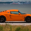TALLINN, ESTONIA - JUNE 16, 2008: An orange Lotus Exige S side v - 