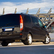 Black minivan — Stock Photo
