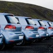 Cars parked in a row — Stock Photo #9603438