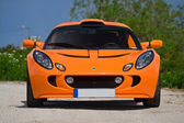 TALLINN, ESTONIA - JUNE 16, 2008: An orange Lotus Exige S front — Stock Photo