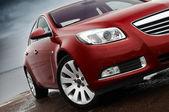 Kirsche rot Auto vorne Details — Stockfoto