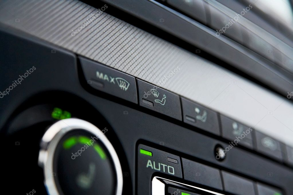 Car climate control buttons detail — Stock Photo #9603822