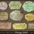 Vintage retro labels — Stock Vector #10705230