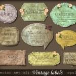 Vintage retro labels — Stock Vector #10705230