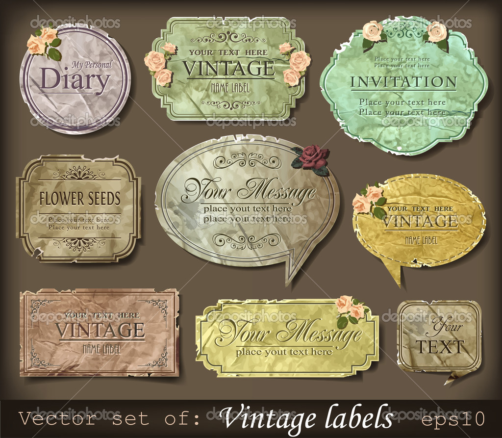 Vector illustration of vintage retro labels — Stock Vector #10705230