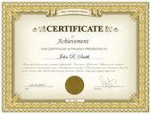 Detaillierte gold-zertifikat — Stockvektor