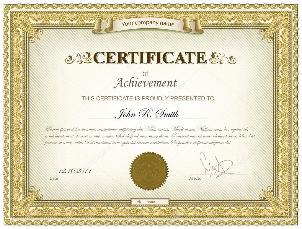 Download - Gold detailed certificate — Stock Illustration #9725775