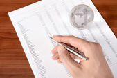 Working With Documents — Stock Photo