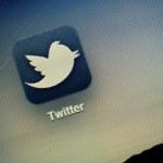Twitter Logo Extreme Macro — Stock Photo