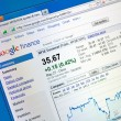 Stock Photo: Google finance web page