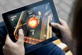 Play Death Rally on Apple Ipad2 — Stock Photo