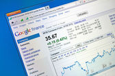 Google finance web page — Stock Photo