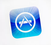Logotipo da Apple app store — Fotografia Stock