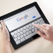 Stock Photo: Google Search On Apple iPad2