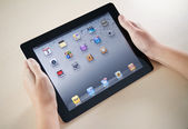 Showing Apple iPad2 Homepage — Stock Photo