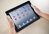 Showing Apple iPad2 Homepage — Stock Photo