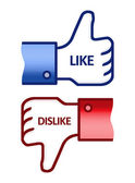 Thumb Up Like Dislike Symbol — Stock Photo