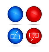 Thumb Up And Thumb Down Icons — Stockfoto