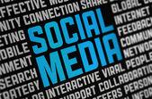 Sociala medier affisch — Stockfoto