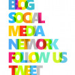 Social Media Color Words — Stock Photo
